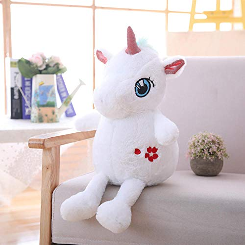 NIANMEI 35 / 60Cm Lovely Unicorn Peluche ripiene Kawaii Soft Unicornio Giocattoli di Peluche per Bambini Creative Birthday Gift for Girls Lovers @ 35Cm_White