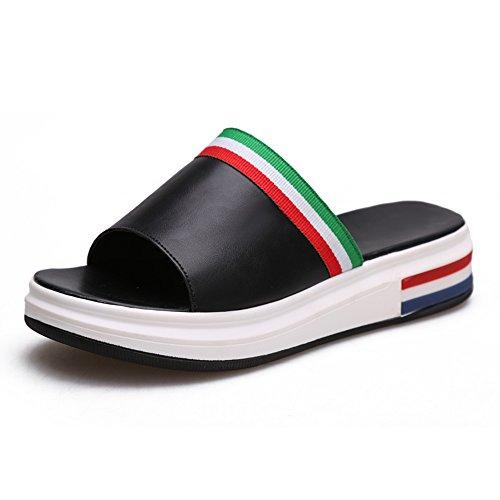 Estate Sandali Sandali da donna Primavera Estate da Uomo Vestito Casual Flat Heel Flat Black White Colore / formato facoltativo Nero