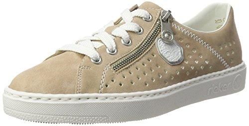 Rieker Damen M7916 Sneakers Mehrfarbig (altrosa/argento/weiss / 31)