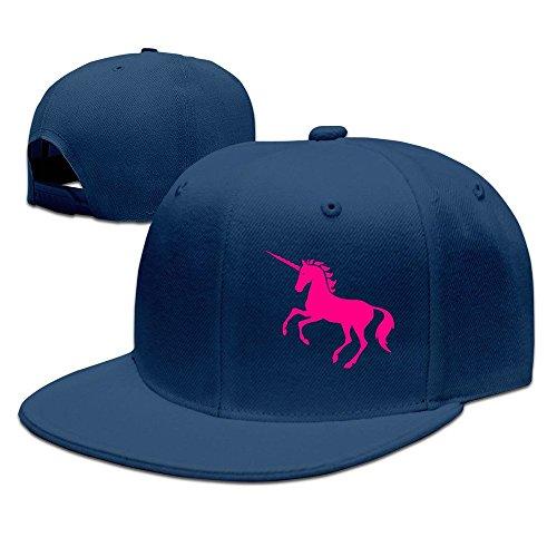 fboylovefor Custom Unisex Adjustable Sports Pink Unicorn Snapback Flat Cap One Size