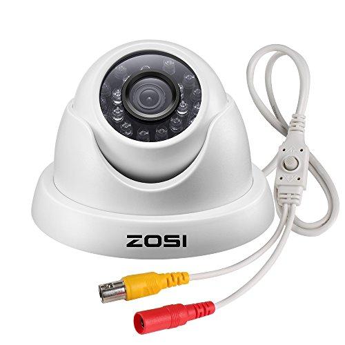 ZOSI 2MP HD 1080p 4-in-1 Dome Video Überwachungskamera mit OST Taste, Videoausgang in TVI/CVI/AHD/960H Farb-dome-video