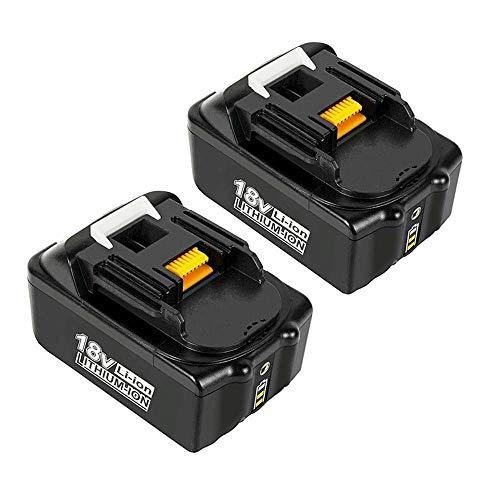 2 Stück BL1850B Akku für Makita 18V 5,0Ah Li-Ion Akku Kompatibel mit Makita BL1850B BL1850 BL1860B BL1860 BL1840B BL1840 BL1830 BL1835 BL1845 194204-5 LXT-400 mit LED Indikator