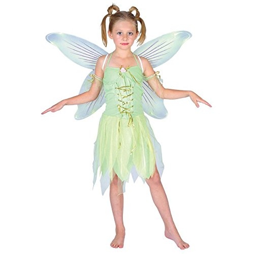 Tinkerbell Neverland Fairy Tale Child Girls Fancy Dress Costume
