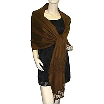 Pashmina Scarf Wrap Shawl Throw - Brown