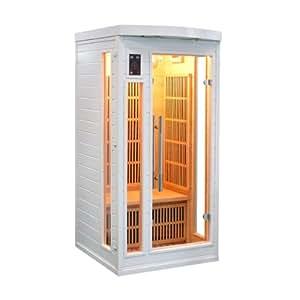 white sun infrarotsauna waermekabine 1 person garten. Black Bedroom Furniture Sets. Home Design Ideas