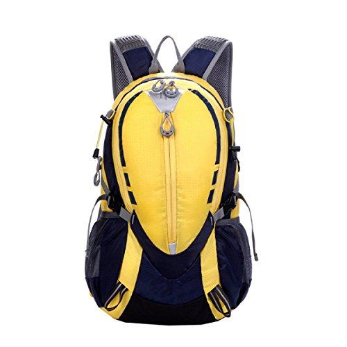 Pacchetto Da Campeggio Borsa Da Viaggio Borsa A Tracolla Da 25L Borsa Da Viaggio Zaino Trekking Zaino Studentesco. Multicolore Yellow