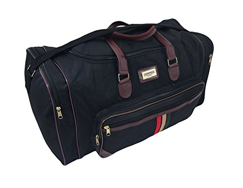 Grand sac de voyage noir Sports Weekend Business Big Sac de transport Bagage noir Large 52 Litre