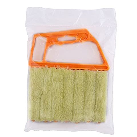 Lugii Cube Mini microfibre Store vénitien Brosse Window Air Conditioner Duster Dirt Nettoyage Cleaner Jaune
