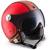 Armor · AV-84 'Vintage Deluxe Red' (red) · Casque Moto Jet · Demi Jet Cruiser...