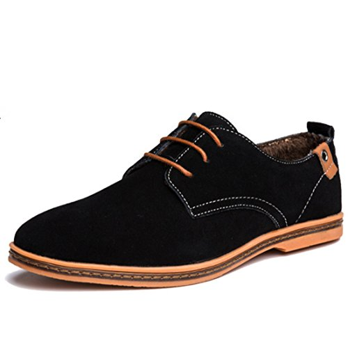 Men's Solid Lace Up Comfortable Oxford Shoes 2