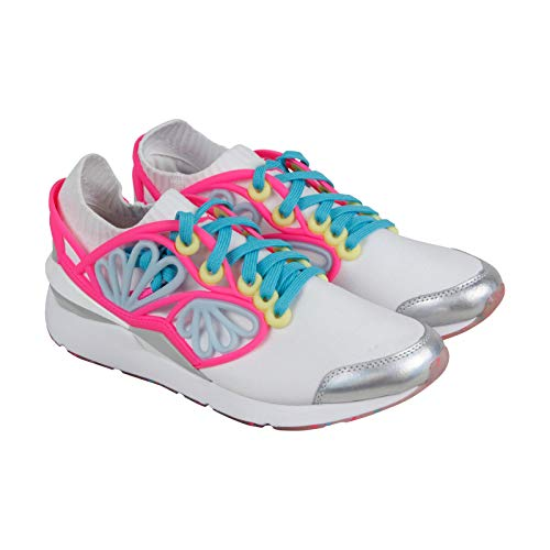 Puma Pearl Cage Sophia Webster Womens White Textile Athletic Lace Up Training Shoes 11
