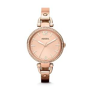 Reloj Fossil ES3226 de cuarzo para mujer con correa de acero inoxidable, color rosa de Fossil
