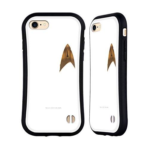 Offizielle Star Trek Discovery Uniform Badge Logo Hybrid Hülle für Apple iPhone 7 / iPhone 8 (Offizielle Uniform)