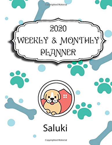 2020 Saluki Planner: Weekly & Monthly with Password list, Journal calendar for Saluki owner: 2020 Planner /Journal Gift,134 pages, 8.5x11, Soft cover, Mate Finish