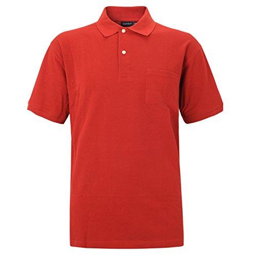 Große Größen - Redfield Herren Poloshirt in Übergröße Rot