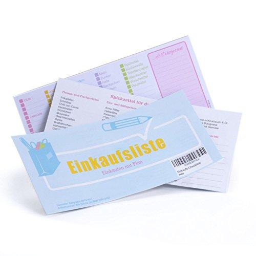 lib-elle 4260343841166 Einkaufsliste zum Ankreuzen - Einkaufsplaner für Lebensmittel als Checkliste