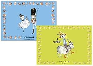 Hans Christian Andersen - Juego de 2 manteles Hans y el soldadito de plomo (Barbo Toys 6230)
