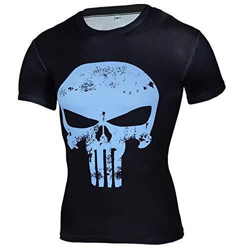 HOOLAZA Avengers Super Heroes Männer Kompression T-Shirt Iron Man Tops Fitness