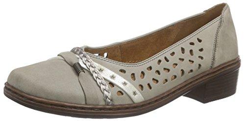 Jenny Damen Rhodos Slipper Grau (grigio,platin 10)