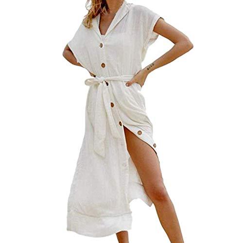 routinfly Damen Freizeitkleid Cocktailkleid,2019 neu Kleider Abendkleid Shirtkleid Lange gestickte Damen-Kimono-Strickjacke aus Spitze mit halben Ärmeln Sonnenschutz Perspektive Strandkleid -