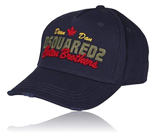 (Dsquared2 Baseball Cap ´´Caten Brothers´´ | B-Ware Super Trendige Stylische Kappe, Klassisch Cool Unisex Design & Modisch in Marineblau | Mit Großer Logo | 100% Baumwolle Für Extra Komfort - Navy)
