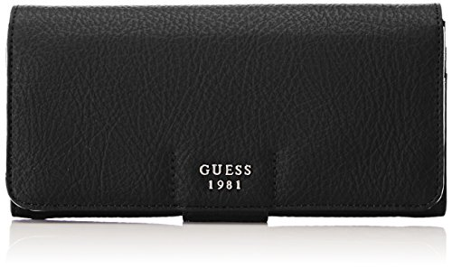 Guess Damen Slg Wallet Geldbörse, Schwarz (Black), 2x10x20 centimeters (Guess Portemonnaie)