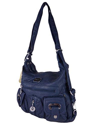 VALILAI 0801-52 moderne Damen Alltagstasche, Rucksacktasche in 7 Farben 30x26x12 blau blue skyblue