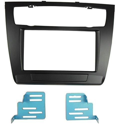 dkmus doppio DIN Radio stereo Dash Trim Kit Di Installazione per BMW Serie 1E81E82E87E882007-2011fascia Auto AC