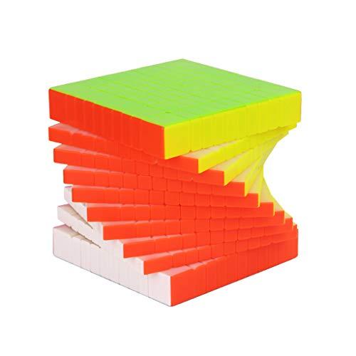 Lecc Zauberwürfel 10. Ordnung 10 * 10 * 10 Geschwindigkeits-Würfel Magische Fluoreszierende Farbe Puzzle Glattes Gefühl Gute Geschwindigkeit Kreatives Gehirn Training Spiel