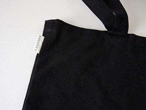 Varsany, shopping bag in cotone con decorazione a strass, porta-regali, per matrimonio, colore: nero Borse shopper Bridesmaid Bride To Be