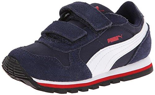 Puma ST Runner NL V Kids Sneaker (Little Kid/Toddler/Little Kid), Peacoat/White/High Risk Red, 4 M US Toddler
