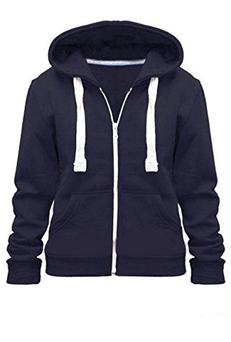 KIDS PLAIN HOODIE, Navy, 9-10 Years