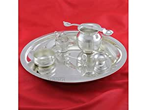 Puja Thali set of 7 in german silver