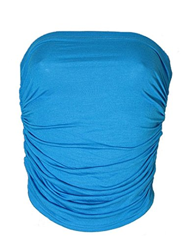 Da donna Boob tubi da sera senza spalline tops estate party Turquoise