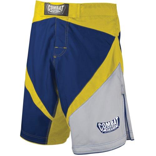 Sport di combattimento lotta boxe kickboxing Muay Thai MMA allenamento competizione pantaloncini boardshorts Blue/Yellow