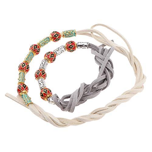 B Baosity 2 Stück Haar Clip Dreadlock-Perlen Manschetten Haar Braid Spirale für Frauen Mädchen...