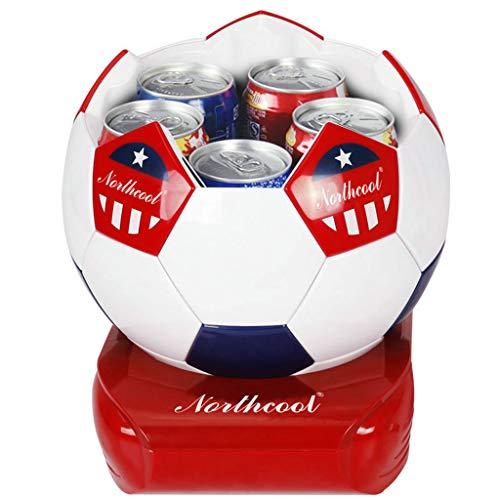 JHDUID 5L Fußball Typ Auto Kühlschrank Mini Kleiner Kühlschrank Heimschlafsaal Gefrierschrank Dual-Use-Kühlschrank für Auto Road Trips Schlafzimmer Büronutzung -