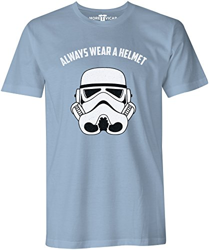 Always Wear A Helmet - Herren T Shirt Hellblau