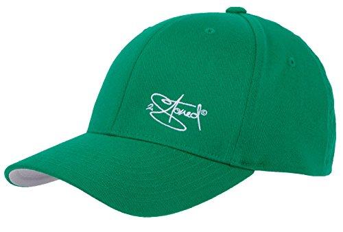 2Stoned Flexfit Cap Wooly Combed Pepper Green mit Stick, Größe L/XL (58 cm - 60 cm), Basecap für Damen und Herren Green Baseball-kappe