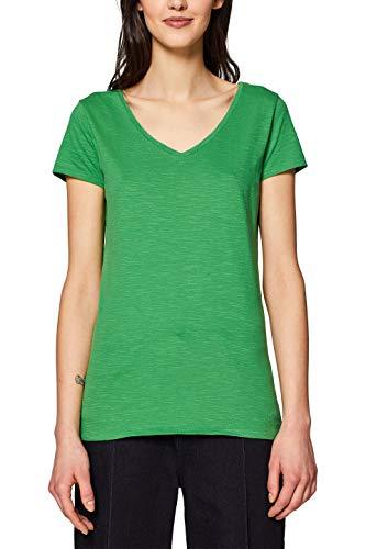 edc by ESPRIT Damen 128CC1K049 T-Shirt, Grün (Dark Green 3 302), Small (Herstellergröße: S)