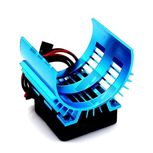 Nuevo Disipador de calor del motor y ventilador de refrigeración para 1/10...