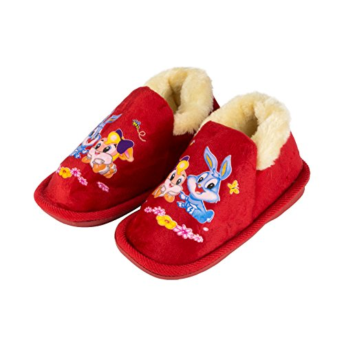 remonde dh-213filles Lapin d'hiver pantoufles red