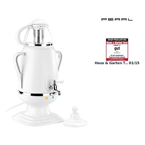 PEARL Samovar: Samowar-Teebereiter mit Glas-Teekanne, 2.200 Watt, 3,5 und 0,5 Liter (Teekanne mit Warmhaltefunktion)