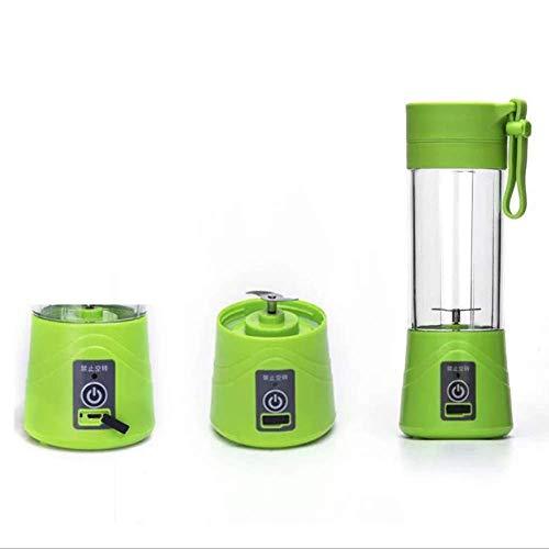 Didizhang Batidora Mini Exprimidor Portátil Lijadora De Vaso De Botella Extractor Multifuncional Mini Mezclador De Fruta De Vaso De Viaje Verde 380 ML