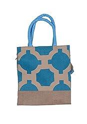 ABV Jute Lunch Bag, Medium Size, Blue Color
