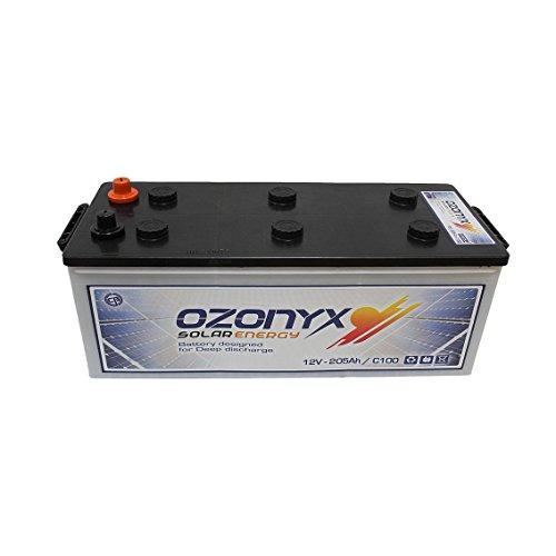 Voltaje: 12V. - Marca: Turbo Bat - Medidas: 518 x 274 x 242 mm. - Peso: 59 Kg. - Tipo de batería: Solar Monoblock. - Bajo mantenimiento. - Más de 400 ciclos al 75%. Más de 800 ciclos según IEC 61427. - Capacidad en C100: 250Ah, en C20: 230Ah y en C10...