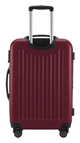 HAUPTSTADTKOFFER® 49 Liter Handgepäck · SPREE · TSA · MATT · NEU 4 Doppel-Rollen · (in 12 Farben) + LogiLink® Flugzeug Audio Adapter (Cyan Blau) Burgund