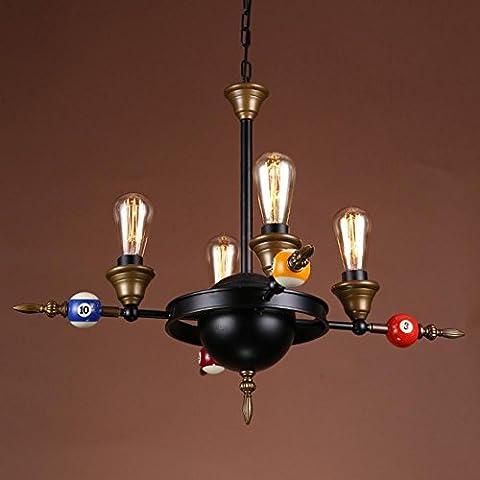 Retro Industrie Kronleuchter Kreative Persönlichkeit Billard Pendelleuchten Eisen Dekoration Lampen