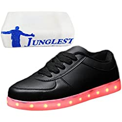 [Presente:pequeña toalla]c39 EU 40, par luces LED zapatos adultos Casual moda Unisex carga Zapatillas para llanas de manera USB luminoso colores 8 hombres zapato