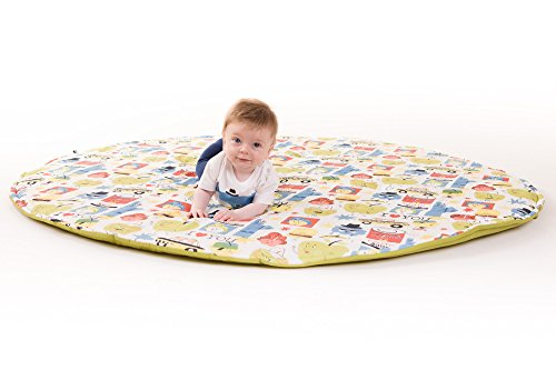 Manta de juegos para bebes XXL grande para gatear acolchada gimnasio suelo actividades alfombra Big Apples
